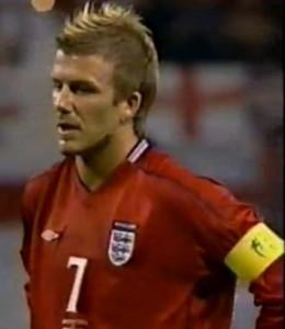 David Beckham ist ein Spezialist für Flanken mit Effet